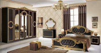 Barocco Schlafzimmer schwarz gold 1