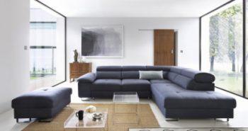 COSTA – Ecksofa mit Schlaffunktion und Bettkasten blau 1