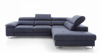 COSTA – Ecksofa mit Schlaffunktion und Bettkasten blau 2