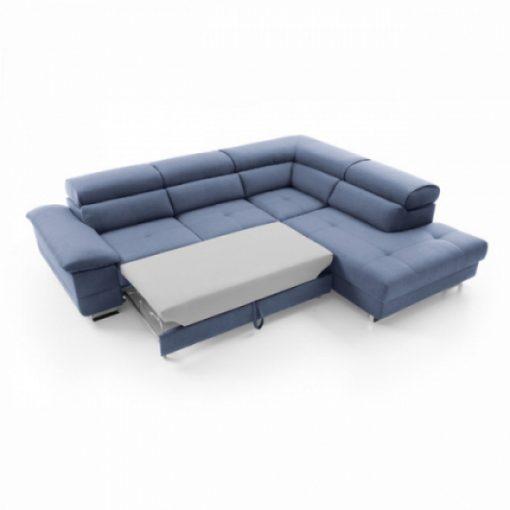 COSTA – Ecksofa mit Schlaffunktion und Bettkasten blau 4