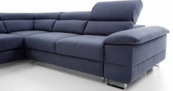 COSTA – Ecksofa mit Schlaffunktion und Bettkasten blau 5