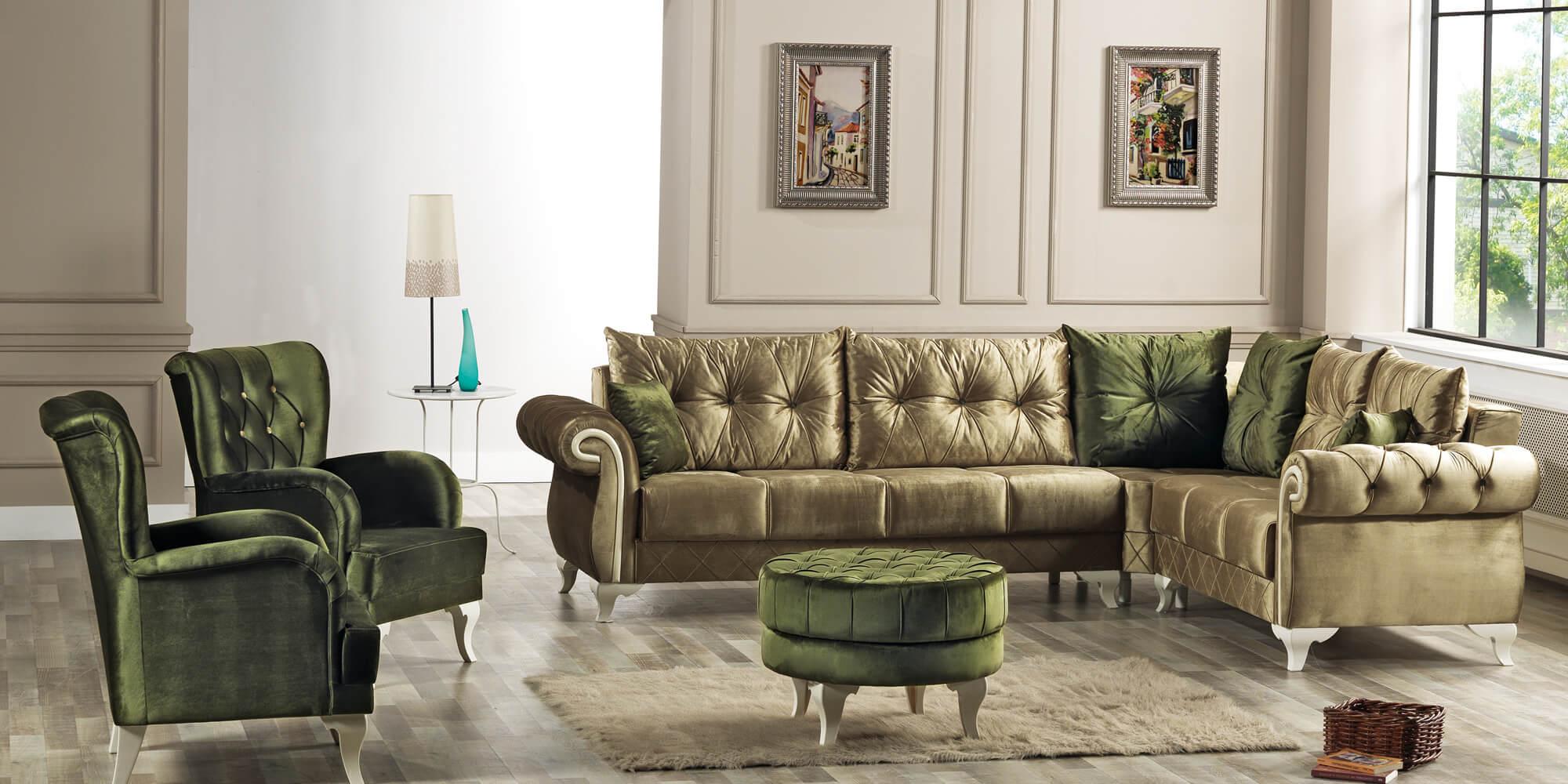 efes eckcouch mit schlaffunktion gr n erkan m bel. Black Bedroom Furniture Sets. Home Design Ideas