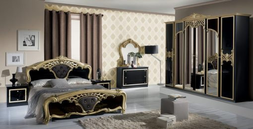 eva schlafzimmer gold schwarz