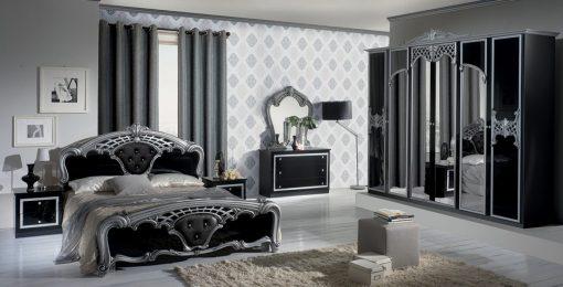 eva schlafzimmer silber schwarz