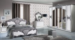 eva schlafzimmer silber weiß