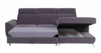 FLAMING – Ecksofa Klein Grau 3