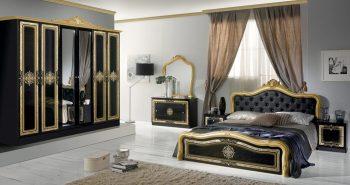 luisa schlafzimmer gold schwarz