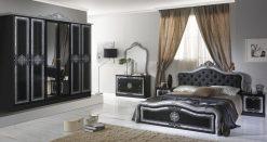 luisa schlafzimmer silber schwarz
