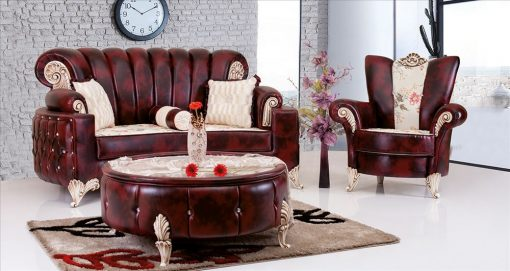 Uranus Couchgarnitur bordeau 1 Türkische Couch