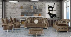 Uranus Couchgarnitur braun 1 Türkische Couch