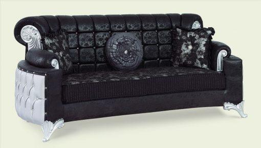 Uranus Couchgarnitur schwarz 3 Türkische Möbel
